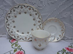 Royal Osborne - 3 darabos angol porcelán reggeliző készlet