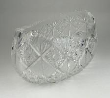 0R822 Gyümölcskínáló kristály tál 24.5 cm