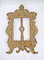 Kidolgozott angyalos bronz képkeret