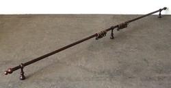 0R787 Esztergált fa függönytartó karnis 370 cm