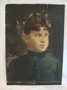 Régi festmény , női portré
