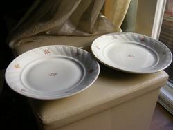 2 db KP Kispest porcelán lapos tányér együtt