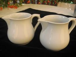 Zsolnay antik tejkiöntők  2db kisebb sérülésekkel / ritkán látható forma/