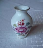 Régi HERENDI virágmintás kis porcelán váza