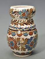 Hódmezővásárhelyi majolika váza, HMV Csenki ( Czvalinga ). 1930-as évek.