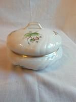 Nagyméretű Herendi Hecsedli mintás porcelán bonbonier