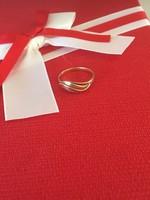 14K arany gyűrű belső átmérője 19mm