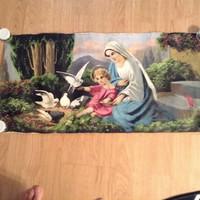 Vászonra festett szentkép