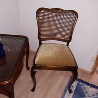 Chippendél barok ratántámlás szék 8 drb