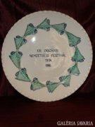 Óriás méretű kerámia fali tányér