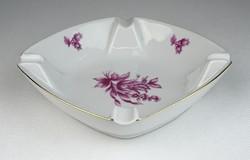 0S099 Hollóházi porcelán hamutál