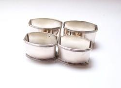 Olasz ezüst szalvétagyűrűk.