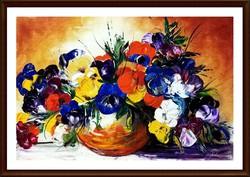 Czinóber - Árvácskák ( festőkéssel, olaj )