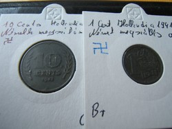 Námet megszállás pénzei 02. 1940-41 Hollland Cent