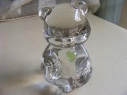 Fenton USA kristály maci