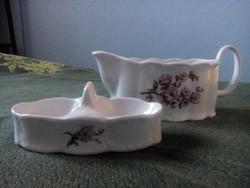 Arpo porcelán sótartó és szószos (kiöntő)