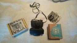 VILIA orosz fényképezőgép eredeti dobozában vakuval