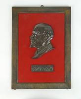 0S346 Bronz Lenin falikép fali dísz