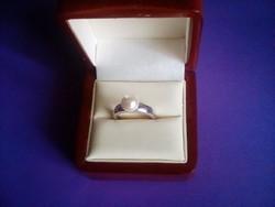 Szép gyöngyös ezüst gyűrű(állitható méret)