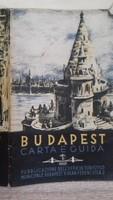 Budapest turisztikai térkép 1939. olasz nyelvű