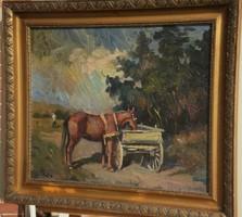 Áron Nagy Lajos (1913-1987) - Pihenő ló