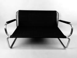 Bauhaus loft csővázas kanapé és fotel