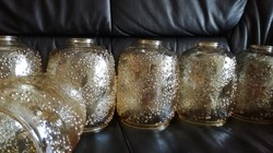 6 db méz szinű üveg lámpabúra