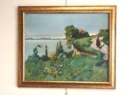 Neogrády László Balaton festménye eladó