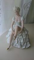 Saubach Kunst porcelán balerina. Hibátlan. 16 cm