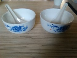 Japán leveses csészék kanállal