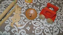 Retro fa játék - három darab