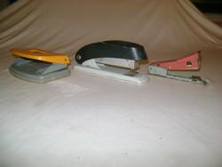 Rerto irodai eszköz, íróasztal kellék - három darab - tűzőgépek, lyukasztó