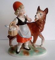 Leárazva! Piroska és a Farkas Scheidig-Kunst Grafenthal porcelán figura,nipp