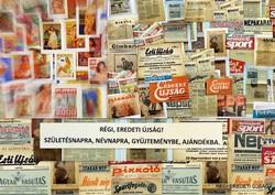 1977 október 11  /  képes sport  /  SZÜLETÉSNAPRA RÉGI EREDETI ÚJSÁG Szs.:  3273