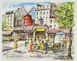 0S800 Párizsi nyomat : Moulin Rouge
