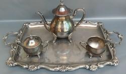 Asztali alpakka tea kínáló szett