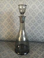 Fekete vintage üveg butélia, eredeti dugójával