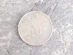 Finnország - Oroszország 5 PENNIA 1913 II. Miklós