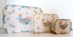 Vintage bonbonos doboz Duna Csokoládégyár retro Százszorszép 3 db