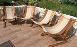 RIKKEN karosszékek, 4 db pihenő szék szép állapotban Skandináv design