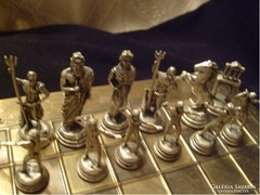 U11 Ezüstözött sakk mitológiai bábukkal ritkaság ajándékozhatóan leárazva