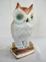Bagoly porcelán lámpa