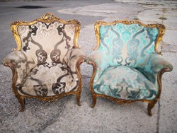 Francia antik barokk felújítandó fotelek !