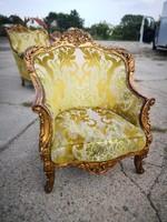 Francia antik barokk felújítandó fotel !