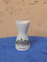 Aquincum porcelán váza Budapest 9 cm (24/d)