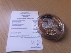 Visegrádi vár ezüst 5000 Ft 31,46 gramm 0,925 keresett érme R PP