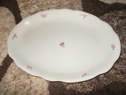 Antik Zsolnay virágmintás porcelán sültes, húsos, pecsenyés tál (AA-02)
