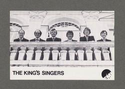 THE KING'S SINGERS DEDIKÁLT FOTÓ 1971 EMI, NAGYON RÍTKA