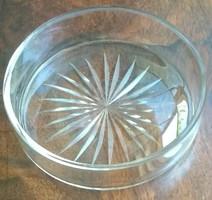 Antik csiszolt ékszertartó - 7,5 cm. átmérő - üveg