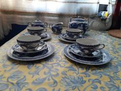 Antik litofán Japán 4 személyes  porcelán teás,kávés készlet
